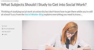 Become A Social Worker What Subjects Should I Study To Get Into Social Work The