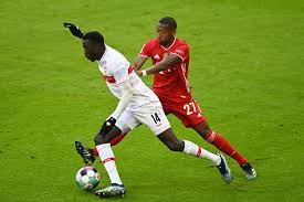 And they were down to ten men(us only). Awful News Vfb Stuttgart S Silas Wamangituka Suffers Serious Knee Injury Against Bayern Munich Bavarian Football Works