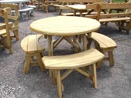 pdf woodwork round wooden picnic table plans diy plans