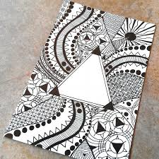 Pattern Drawing Best Triangle Pattern Drawing Photo Art Print By CrowsdanceDesigns On