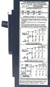 3 pole 200 amp 240 vac circuit breaker Shunt Breaker Wiring Diagram Electrical Shunt Trip Diagram