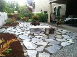 patio rock garden patio ideas around