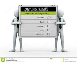 3d People Holding Customer Service Evaluation Form Stock