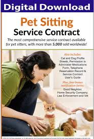 Pet Sitter Information Form Pet Sitting Contract Pet Sitting Services Agreement