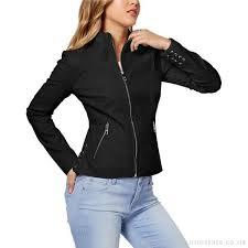 guess women s radio beach crisscross ties faux leather moto jacket jacket blazers coats