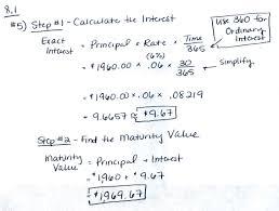 business math 8 1 single payment loans ehs business math