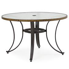 harbor dining table with glass top 48