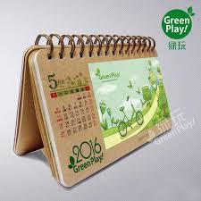 how to make a desktop calendar kraft paper desk calendar with green design printed creative diy