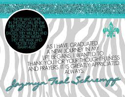Custom Graduation Announcement And Thank You Card Merely Madison