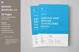 Manual Design Templates Brand Manual Brochure Templates Creative Market 1
