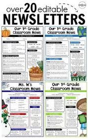 Editable Newsletter Templates Teacher Stuff Classroom Classroom