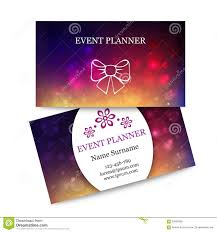 Template Colorful Business Cards For Event Planner Stock Vector