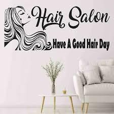 hair salon wall decal hairdresser wall