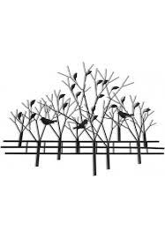 decors trees birds metal wall art