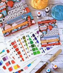 The Cookie Companion Color Charts The Cookie Companion Color Chart Cards