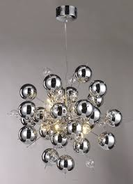 chrome ball sputnik chandelier