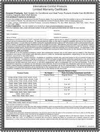Warranty Certificate Kadil Carpentersdaughter Co