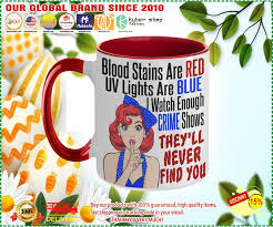 blood stains are red uv light are blue