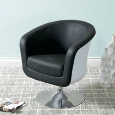 leather tub chairs mod modern black and white bonded chair second hand full size
