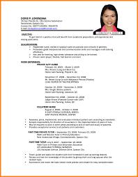 Objective Sample Resume Resume Objective Sample Philippines Danayaus 10