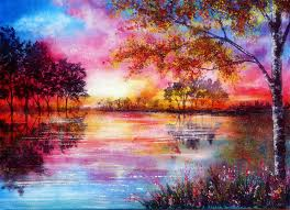 cool flowers love reflections creative moment nature plants landscapes seasons lakes four scenery attractions dreams pretty paintings art pre trees colors