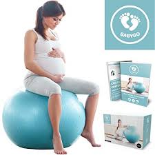 Babygo Birthing Ball Pregnancy Maternity Labour Yoga Ball With Free Trimester Specific Exercise Guide Birth Recovery Plan For Weight Loss