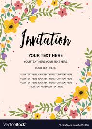 card invitation vintage floral greeting invitation card template vector image