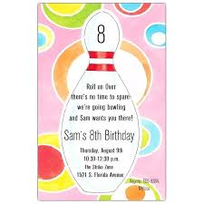 Bowling Invitation Simple Bowling Invitation Party Birthday With Pins Free Ten Pin Template