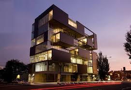 modern office buildings. From Urban Land Writer William Macht: \ Modern Office Buildings F