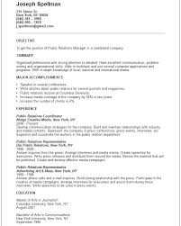 International Relations Resume Sample Cover Letter Master