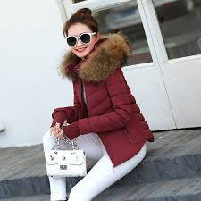 2017 autumn winter jacket women parkas for coat fashion female down jacket with a hood large faux fur collar coat hantano