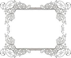 Fancy Frame Border Illustration Free Printable Fancy Borders You