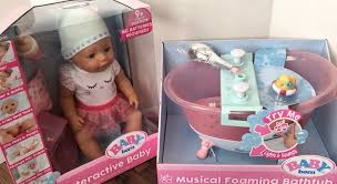 our new baby born doll and bathtub