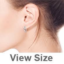 Huggie Hoop Earrings Size Chart Ayllu Inspirational Symbol Heart Infinity Clover For Love Luck Unity Pave Cz Kpop Huggie Hoop Earrings Sterling Silver