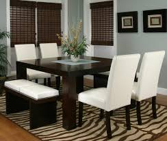 modern dining table with bench. Kemper Two Cushion Bench Contemporary-dining-room Modern Dining Table With S