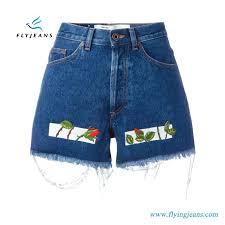 New Shorts Design Hot Item New Design Women Printing Minipants Denim Shorts