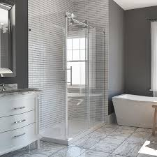 Glass Enclosed Showers shop bathtub & shower door glass at lowes 7106 by xevi.us
