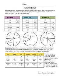 Matching Pies - Pie Graphs Worksheet 2