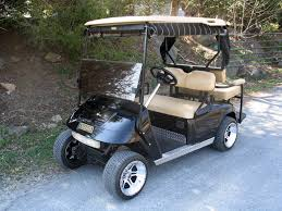 custom golf cars archives golfcarcatalog com bloggolfcarcatalog 1992 Ezgo Gas Golf Cart Wiring Diagram custom black lightning golf cart front corner 2005 e z go