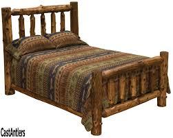 Dark Cedar Log Bed