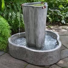 floor outdoor fountains. Fountains:Decor Beautiful Outdoor Decoration With Fountains Design Water Fountain Corner Tiered Modern Floor Standing S