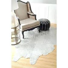 white cowhide rug nuloom hand picked brazilian silver devour cowhide silver cowhide rug white and silver