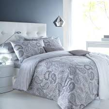 paisley grey duvet cover pillowcase set bedding digital throughout gray and ikea appealing your home decor duvet cover