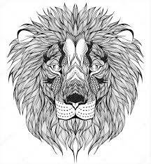 Lví Hlava Tetování Stock Vektor Dianapryadieva 67081341