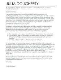 Cover Letter Sample For Teaching Teacher Cover Letters Samples Cover
