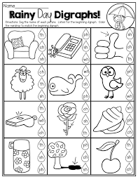 Rainy Day DIGRAPHS! | Printables | Pinterest | Phonics, Worksheets ...