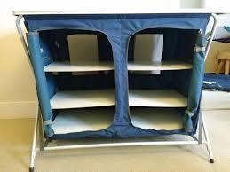 Fold Up Shelf Trespass Quick Fold 6 Shelf Zip Up Double Unit For Camping Or
