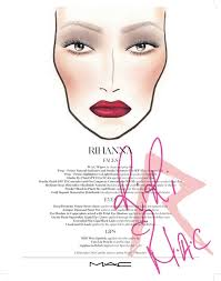 Sephora Face Chart How To Look Like Rihanna Mac Rihanna Face Chart Xoxo Emmy