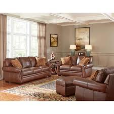 Leather Living Rooms Sets Piedmont 4 Piece Top Grain Leather Living Room Set