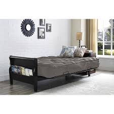 details about wood arm futon 8 coil full size sleep mattress better homes and gardens gray